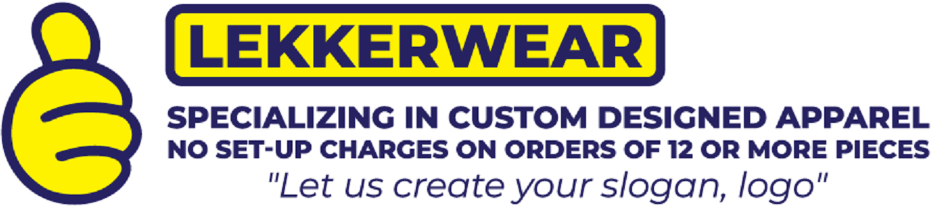 Lekkerwear customized apparel