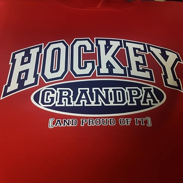 Hockey grandma and proud of it hoodie