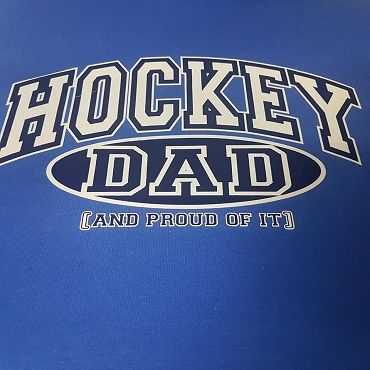 Hockey dad and proud of it hoodie
