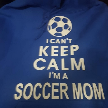 I cannot keep calm  i'ma soccer mom hoodie