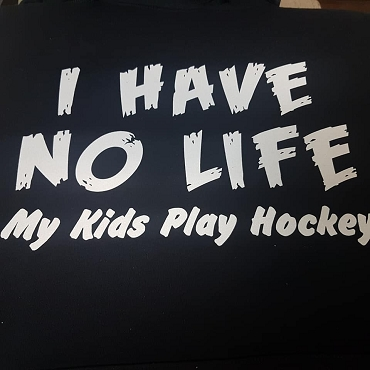 I have no life, my kids play hockey hoodie
