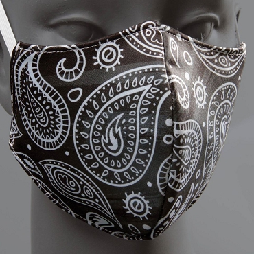 BLACK PAISLEY MASK