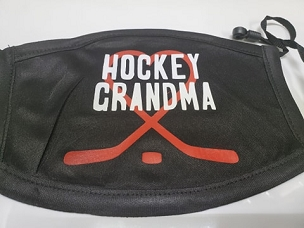 Lekkerwear custom masks.  Hockey Grandma