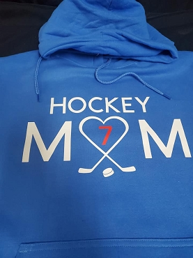 Hockey Mom Heart/sticks with players number