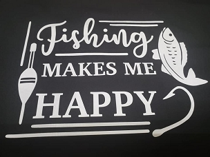 Fishing makes me happy T-shirt or Hoodie