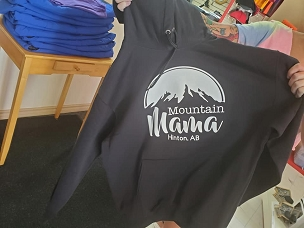 Mountain Mama T-shirt or Hoodie, option to add your town.