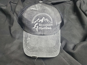 Mountain Grandma ponytail hat