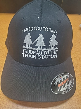Train station trucker style hat