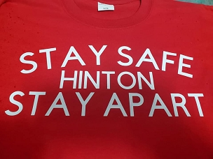 Stay safe Hinton stay apart  T-shirt or Hoodie