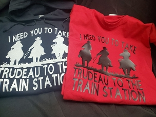 Train station shirt (option for hoodie)