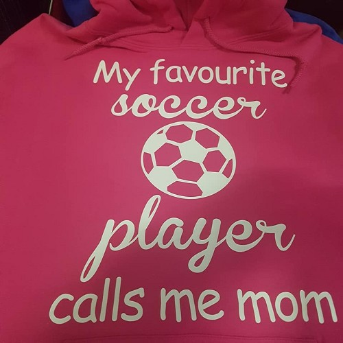 My favorite soccer player calls me mom hoodie