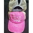 just a girl who loves wine ponytail hat
